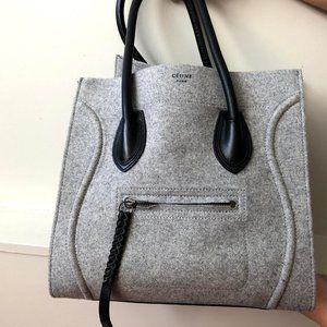Celine Phantom Wool Luggage Bag